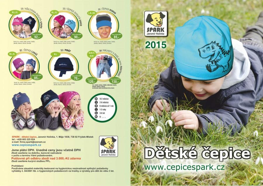 Sezonní katalogy pro výrobce dětských čepic SPARK