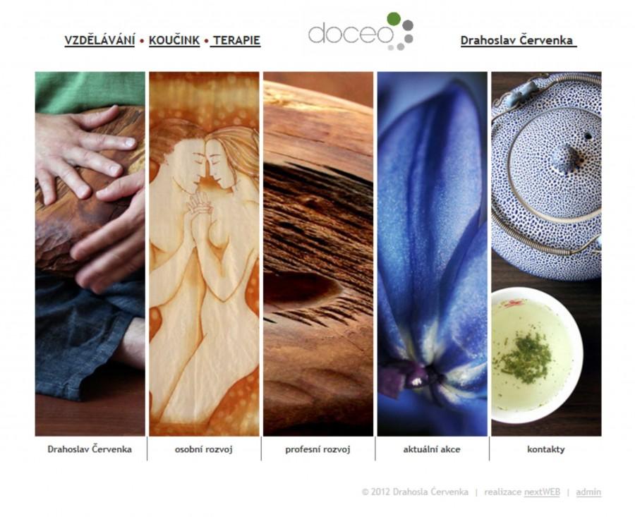 Grafický návrh a fotografie pro realizaci webu DOCEO