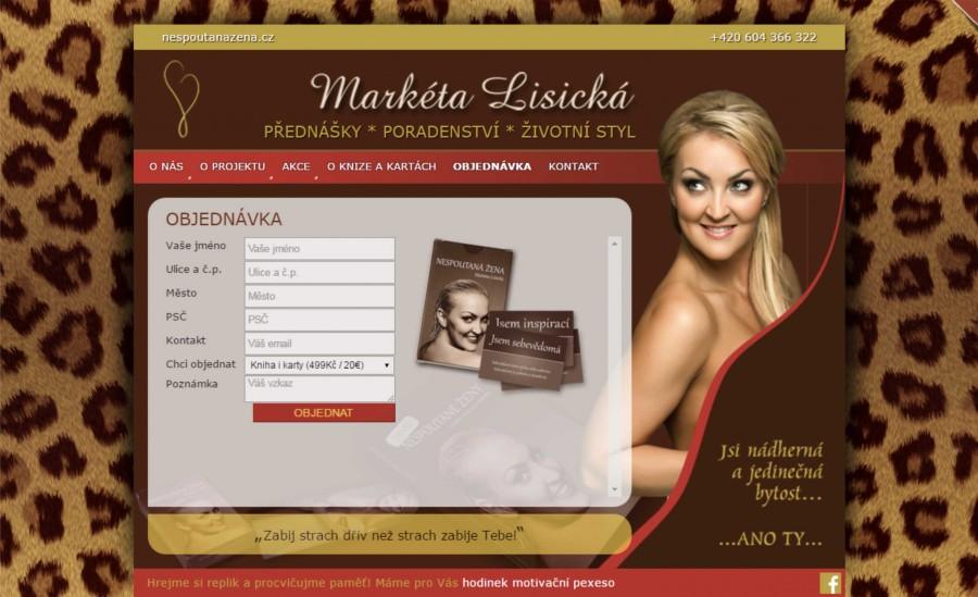 Grafický návrh a realizace webových stránek pro Markétu Lisickou