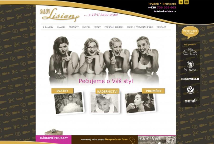 Grafický návrh a realizace webových stránek SALON LISIEN